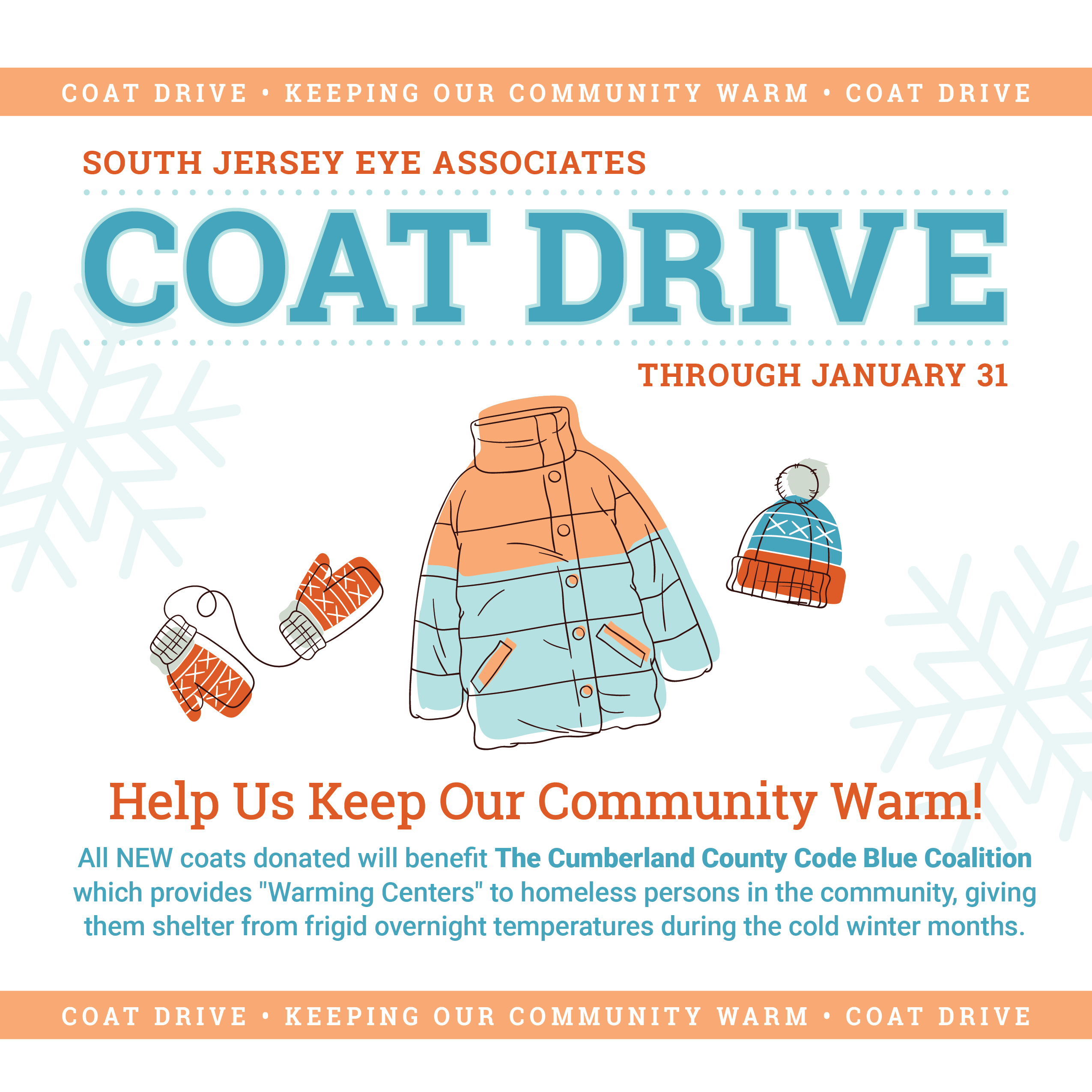 SJEA Winter Coat Drive – Extended to February 3