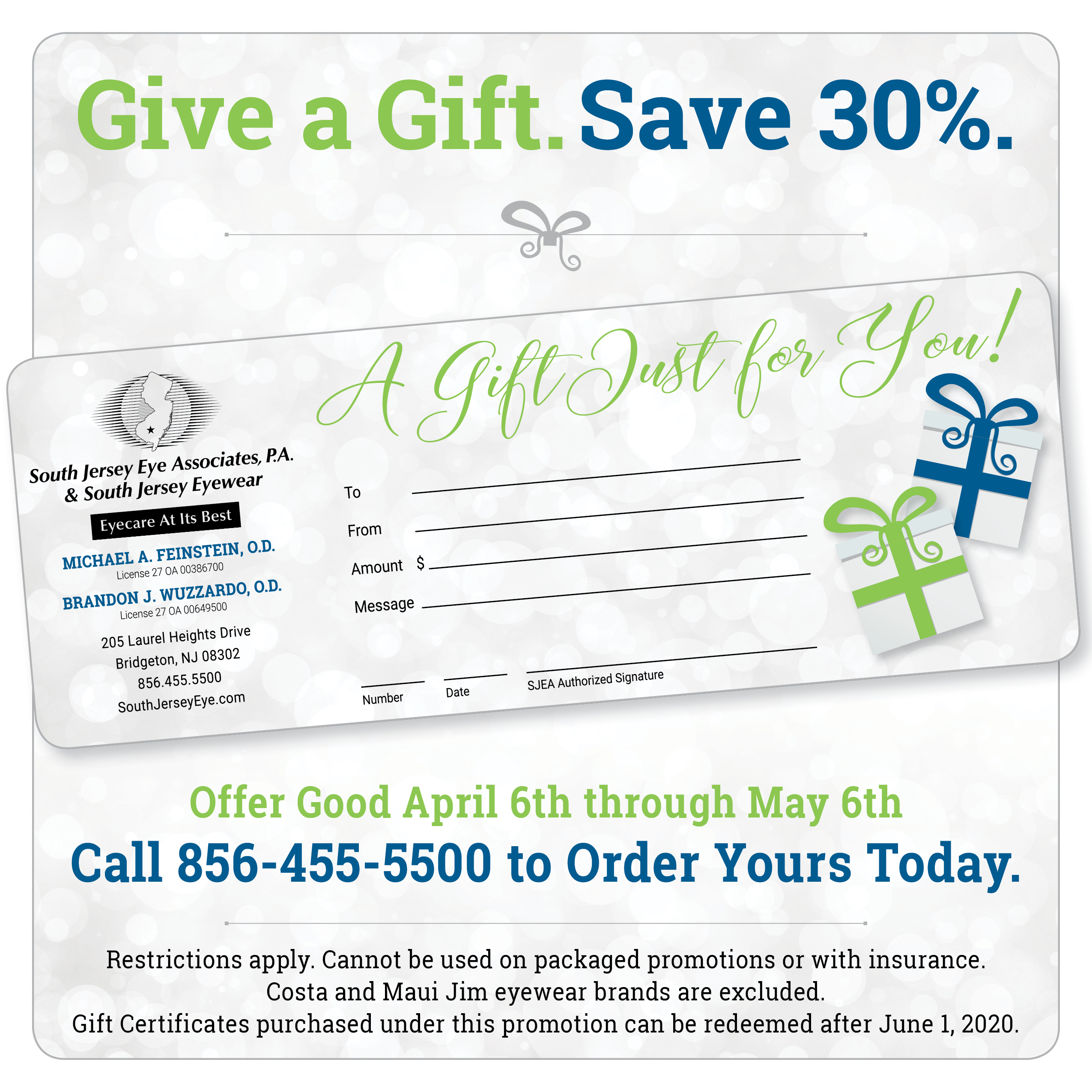 Give a Gift. Save 30%.