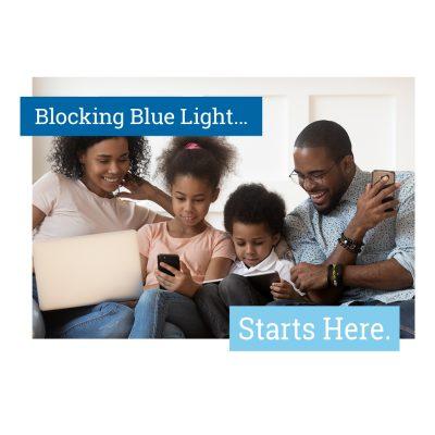 blocking blue light